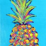 Electric Pineapple in Aqua