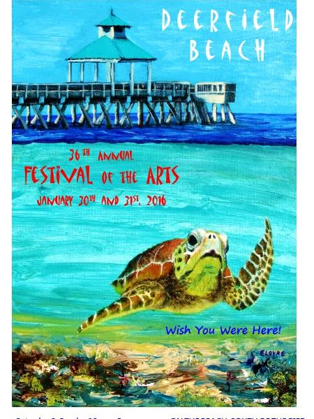 2016 Deerfield Festival of the Arts Poster