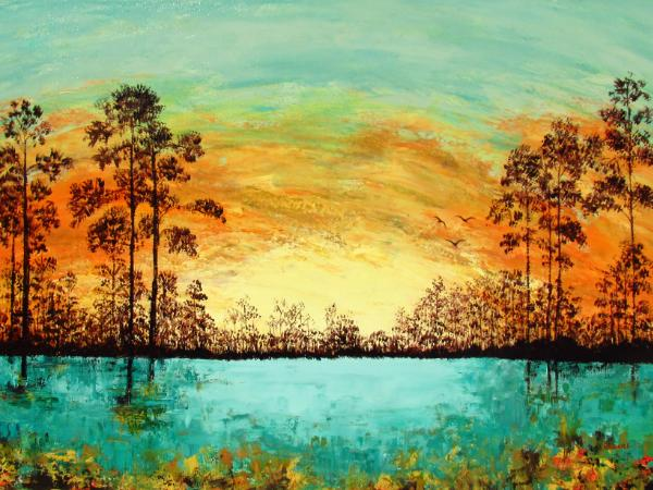 Everglades in Orange 30 x 48