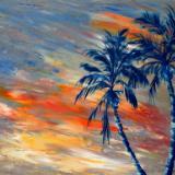 Sunset and Palms