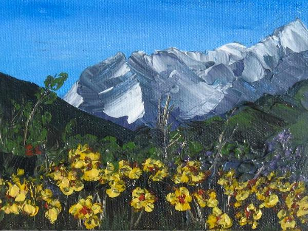 Mountain Flowers Series Painting #3