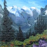 Mountain Flowers Series Painting #1