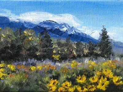 Mountain Flowers Series Painting #2